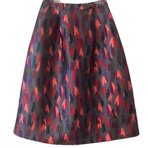RAOUL PERSEPHONE ANTHROPOLOGIE GRAY CORAL SKIRT